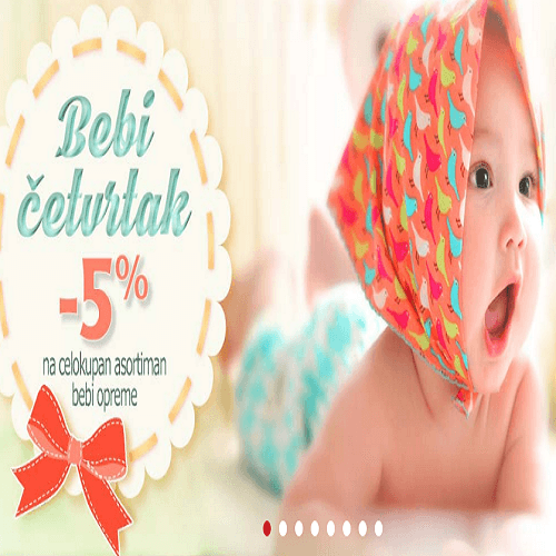 U Dexy co kids-u svakog četvrtka 5% popusta na celokupan asortiman bebi opreme