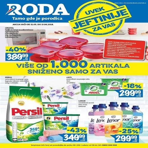 Roda katalog- Uvek jeftijije za vas 31.05.-17.06.2018.