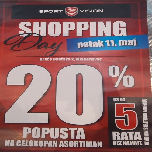 Sport Vision shopping day – sve -20%