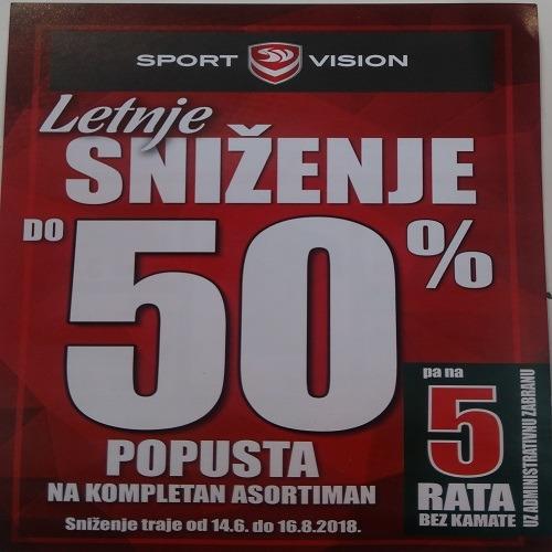 Sniženje do 50% u Sport Visionu