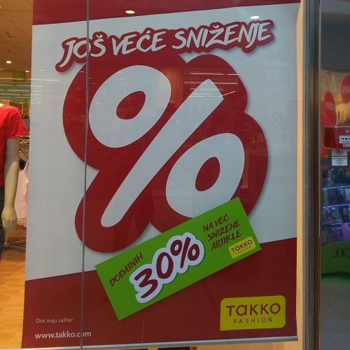 U Takko fashion-u dodatnih 30% na već snižene artikle!