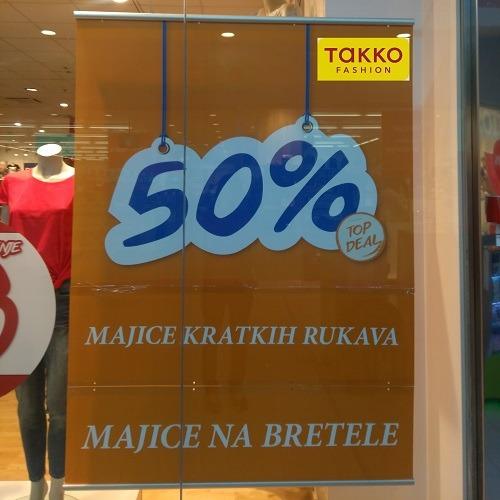 Još veće sniženje u Takko fashion-u!! -50% na sve majice