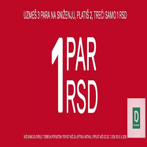 U Deichmannu kupiš 3 para na snizenju, platiš samo 2, a treći je samo 1 dinar!