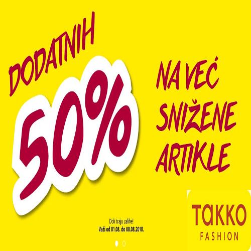 Dodatnih 50% na već snižene artikle u Takko fashion-u