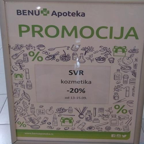 Promocija SVR kozmetike u Benu apoteci u TCM!