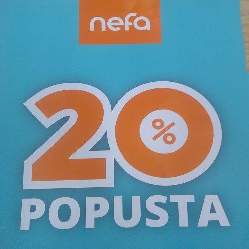 Samo danas -20% u Nefi