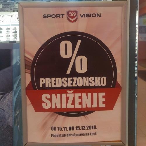 Sport Vision – Predsezonsko sniženje!