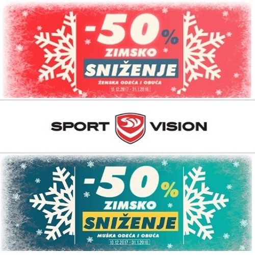 Sezonsko sniženje u Sport Visionu!
