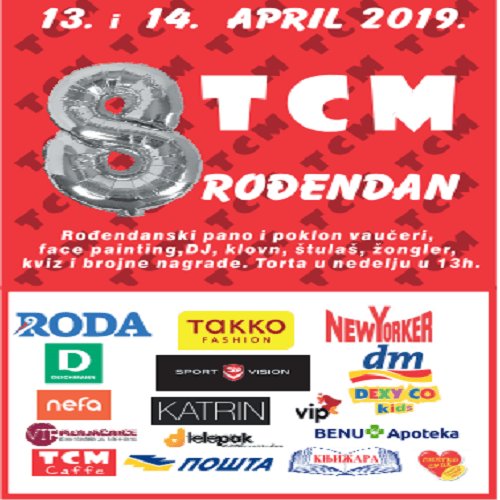 TCM proslavlja 8. rodjendan 13. i 14. aprila!