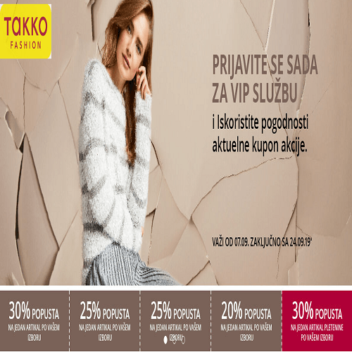 Takko fashion – kupon akcija