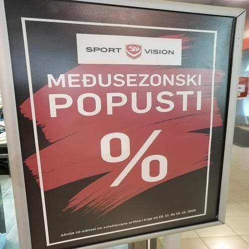 Međusezonski popust u Sport Vision-u