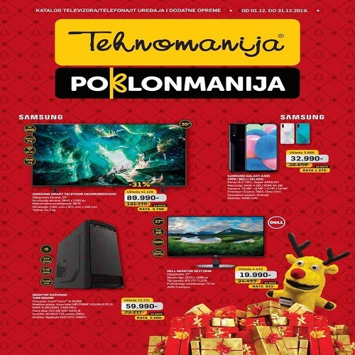 Tehnomanija katalog televizora/telefona/ IT uredjaja i dodatne opreme decembar 2019.