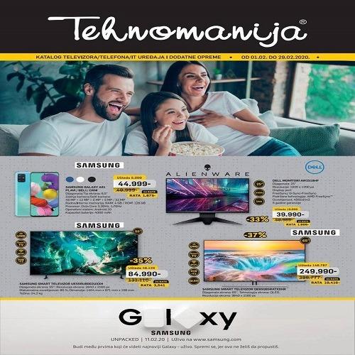 Tehnomanija katalog televizora,telefona i IT uređaja, februar 2020.