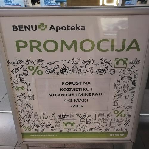 Popust na kozmetiku i vitamine i minerale -20 % u BENU apoteci